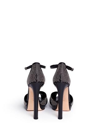 背面 - 点击放大 - ALEXANDER MCQUEEN - 铆钉装饰漆皮拼贴高跟凉鞋