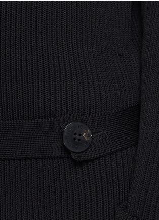 细节 - 点击放大 - NEIL BARRETT - 腰带圆领针织衫