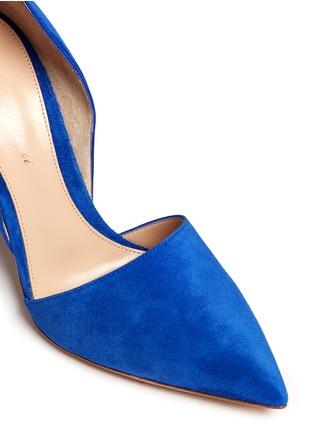 细节 - 点击放大 - GIANVITO ROSSI - 麂皮侧空尖头高跟鞋