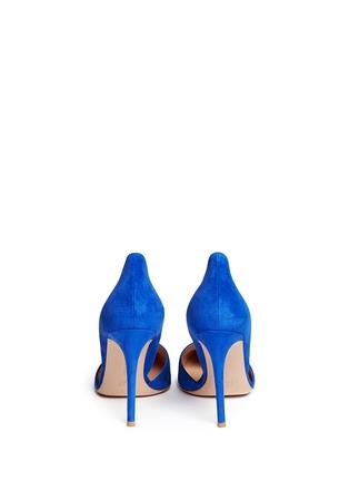 背面 - 点击放大 - GIANVITO ROSSI - 麂皮侧空尖头高跟鞋