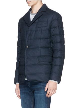 正面 -点击放大 - MONCLER - RODIN法兰绒西服式羽绒夹克