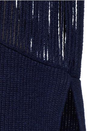 细节 - 点击放大 - STELLA MCCARTNEY - 条状镂空羊绒混羊毛针织衫