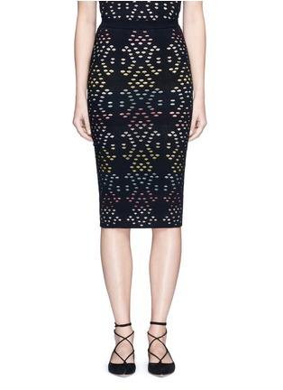 首图 - 点击放大 - ALICE + OLIVIA - 彩色扇形镂空半身裙