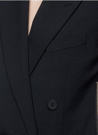 细节 - 点击放大 - STELLA MCCARTNEY - 双排扣羊毛西服马甲