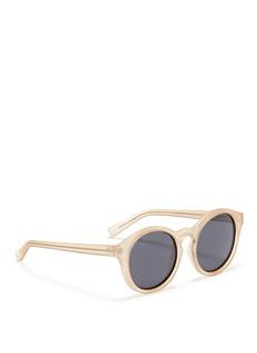 SELF-PORTRAIT x Le Specs EDITION 4半透明圆框太阳眼镜