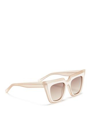 模特儿示范图 - 点击放大 - SELF-PORTRAIT - x Le Specs EDITION 1双重猫眼方框太阳眼镜