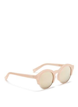 模特儿示范图 - 点击放大 - SELF-PORTRAIT - x Le Specs Edition 5半粗框太阳眼镜