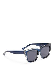 SELF-PORTRAIT x Le Specs EDITION 2拼色顶框板材Wayfarer太阳眼镜