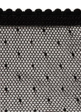 细节 - 点击放大 - KIKI DE MONTPARNASSE - 'Aime-Moi' Swiss dot mini briefs