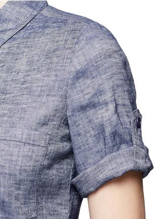 细节 - 点击放大 - THEORY - MAYVINE青年布衬衫裙