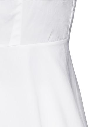 细节 - 点击放大 - THEORY - Eyodis荷叶边纯棉府绸衬衫