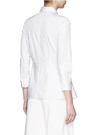 背面 - 点击放大 - THEORY - Eyodis荷叶边纯棉府绸衬衫