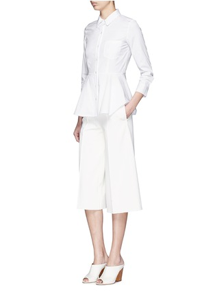 模特儿示范图 - 点击放大 - THEORY - Eyodis荷叶边纯棉府绸衬衫