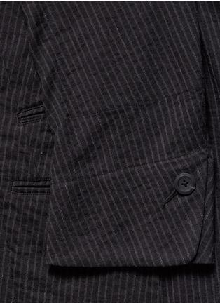 细节 - 点击放大 - ZIGGY CHEN - 棉麻条纹立领外套