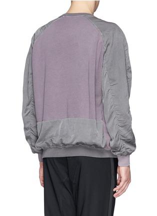 背面 - 点击放大 - HAIDER ACKERMANN - 撞色拼贴卫衣