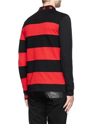 背面 - 点击放大 - GIVENCHY - Contrast sleeve stripe polo shirt