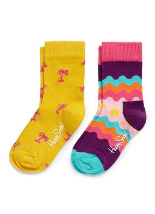 首图 - 点击放大 - HAPPY SOCKS - 棕榈树苏打水图案儿童袜套装