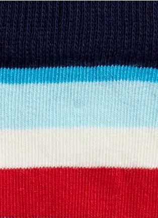 细节 - 点击放大 - HAPPY SOCKS - 波点条纹图案拼色儿童袜套装