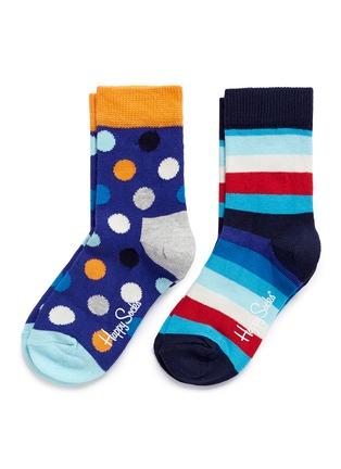首图 - 点击放大 - HAPPY SOCKS - 波点条纹图案拼色儿童袜套装