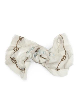 细节 - 点击放大 - FRANCO FERRARI - 藏宝地图混莫代尔围巾
