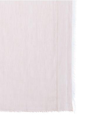 细节 - 点击放大 - FRANCO FERRARI - 双面棉混莫代尔须边围巾