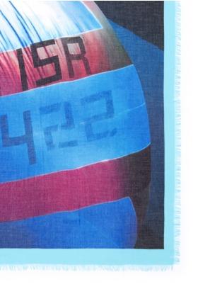 细节 - 点击放大 - FRANCO FERRARI - 帆船印花莫代尔混丝围巾