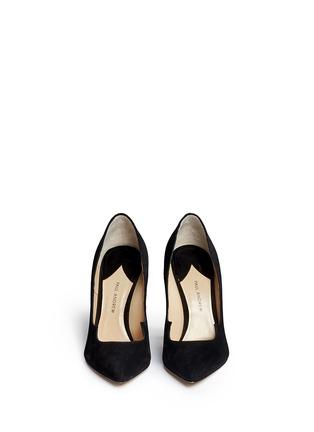 正面 -点击放大 - PAUL ANDREW - ZENADIA 24k镀金细跟绒面皮高跟鞋