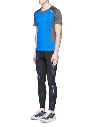 模特儿示范图 - 点击放大 - 2XU - ICE X COMPRESSSION运动九分裤