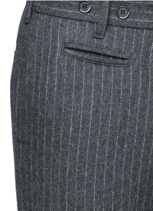 细节 - 点击放大 - BARENA - 竖纹卷边混羊毛及踝裤