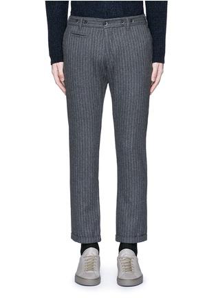首图 - 点击放大 - BARENA - 竖纹卷边混羊毛及踝裤