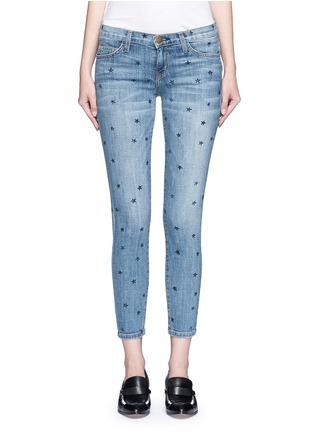 细节 - 点击放大 - CURRENT/ELLIOTT - THE STILETTO星形图案九分修身牛仔裤