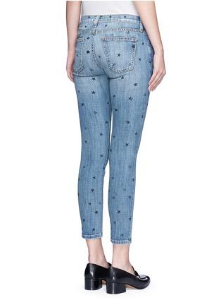 背面 - 点击放大 - CURRENT/ELLIOTT - THE STILETTO星形图案九分修身牛仔裤