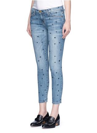 正面 - 点击放大 - CURRENT/ELLIOTT - THE STILETTO星形图案九分修身牛仔裤
