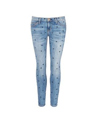 首图 - 点击放大 - CURRENT/ELLIOTT - THE STILETTO星形图案九分修身牛仔裤