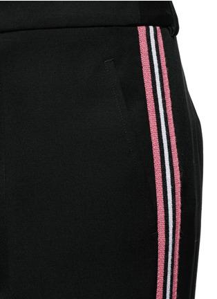 细节 - 点击放大 - PORTS 1961 - 条纹拼贴羊毛阔腿裤