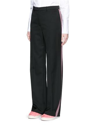 正面 -点击放大 - PORTS 1961 - 条纹拼贴羊毛阔腿裤