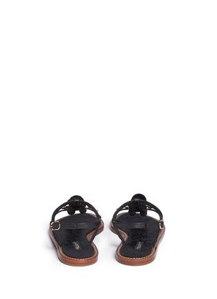 背面 - 点击放大 - DOLCE & GABBANA - 绒球花卉装饰平底凉鞋