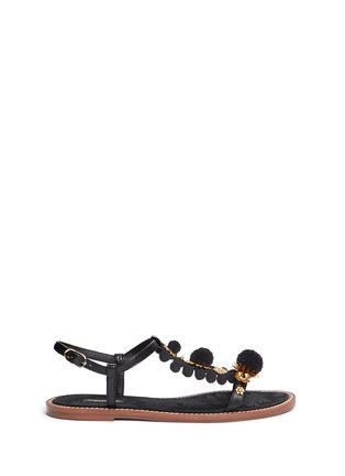 首图 - 点击放大 - DOLCE & GABBANA - 绒球花卉装饰平底凉鞋