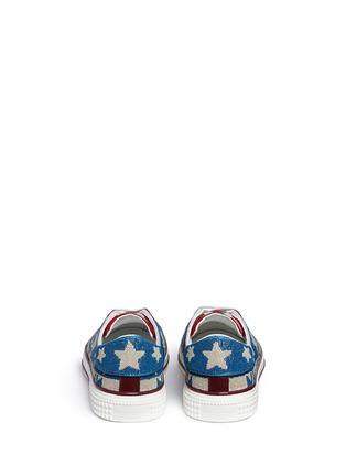 背面 - 点击放大 - VALENTINO - 星星几何珠饰帆布鞋