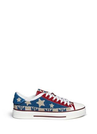 首图 - 点击放大 - VALENTINO - 星星几何珠饰帆布鞋