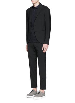 模特儿示范图 - 点击放大 - LANVIN - 罗缎翻领纯棉Polo衫