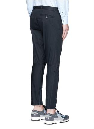 背面 - 点击放大 - LANVIN - 九分长纯棉机车运动裤