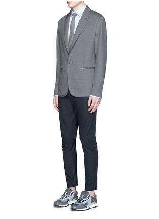 模特儿示范图 - 点击放大 - LANVIN - 九分长纯棉机车运动裤
