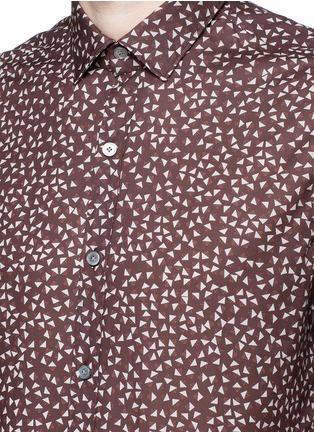 细节 - 点击放大 - LANVIN - 三角形印花纯棉修身衬衫