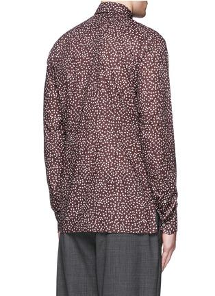 背面 - 点击放大 - LANVIN - 三角形印花纯棉修身衬衫