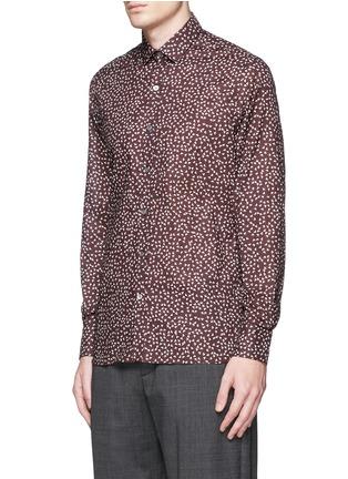 正面 -点击放大 - LANVIN - 三角形印花纯棉修身衬衫