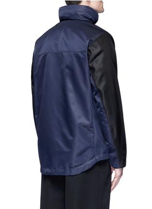 背面 - 点击放大 - GIVENCHY - 拼色连帽尼龙外套