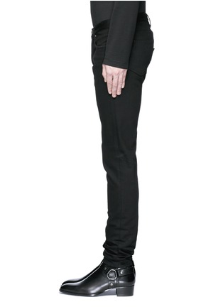 细节 - 点击放大 - GIVENCHY - 搭带装饰棉质修身牛仔裤