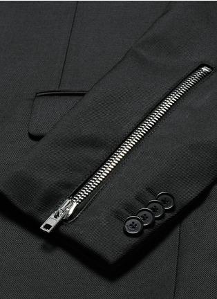 - GIVENCHY - 拉链装饰混羊毛西服外套