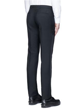 背面 - 点击放大 - GIVENCHY - 星形条纹拼接混羊毛长裤